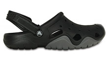 Crocs Swiftwater Clog Black/Charcoal