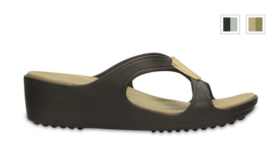 Crocs Sanrah Embellished Wedge