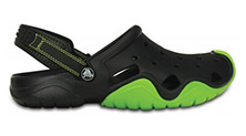 Crocs Swiftwater Clog Black/Volt Green